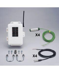 Trådløs blad og jordfugtigheds/temperatur station m/sensorer
